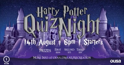 OUSA Harry Potter Quiz Night